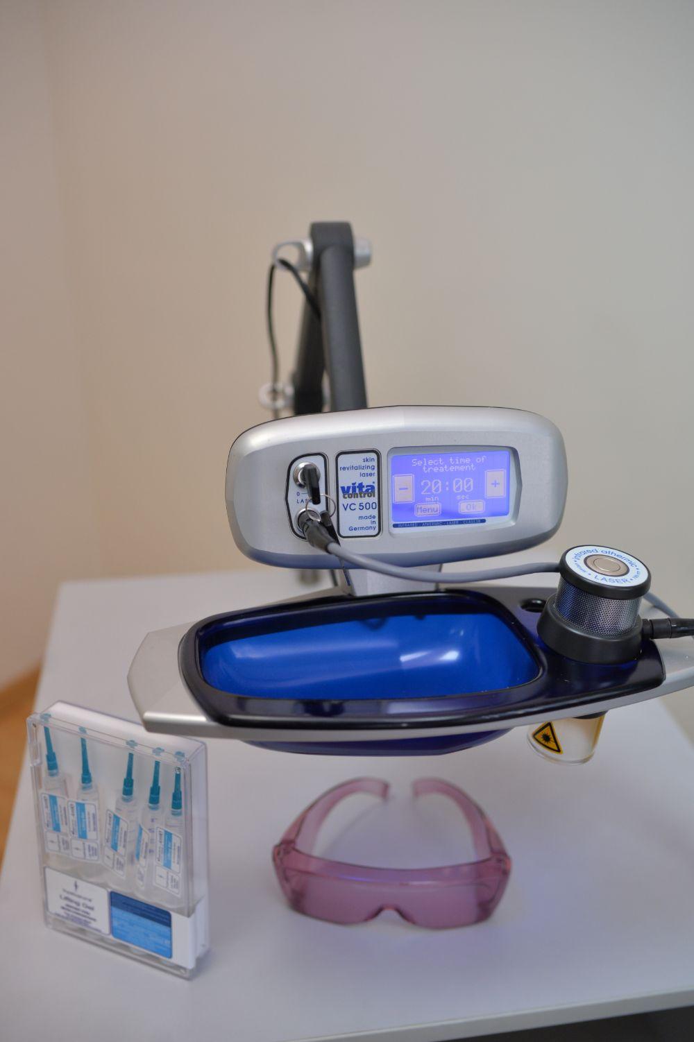 Лазерна біоревіталізація обличчя та тіла апаратом Vitalaser 500 (Німеччина)